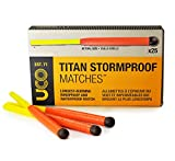 (US) UCO Titan Stormproof Long Burning Waterproof and Windproof Matches (25 Count)
