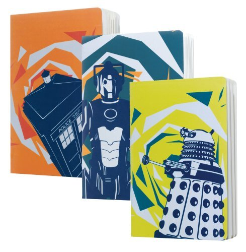 Doctor Who A5 Dalek/cman/Tardis Home Exercise Book (Pack von 3)