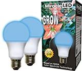 Miracle LED Absolute Daylight Growth Starter Blue LED Grow Lite - Replaces up to 100W - Blue Light for Seed Starting and Strong Plant Stems in DIY Horticulture, Hydroponics, and Indoor Gardens (604267) 2 Pack