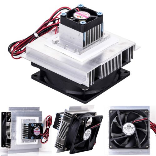12V Thermoelectric Peltier Refrigeration Cooling Cooler Fan System Heatsink Kit by Balance World Inc (Image #1)