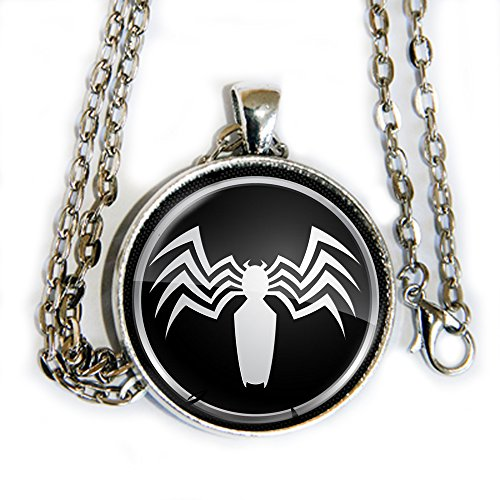 Venom Spiderman logo pendant necklace - HM (X Men Mystique Halloween Costume)