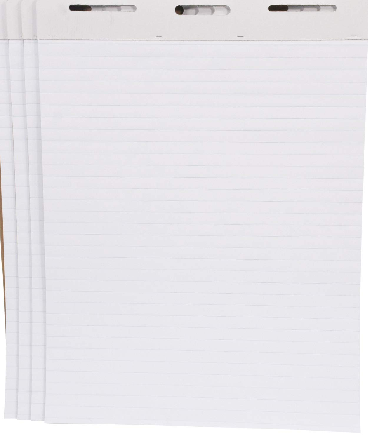School Smart Ruled Easel Pads, 27 x 34 Inches, 50 Sheets, White, Pack of 4 - 1467043 by School Smart