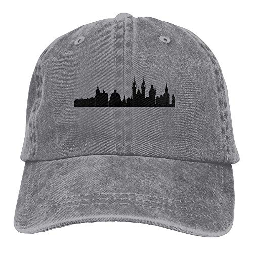 for Sport Hats Cowboy Hat Men Denim Cowgirl Women Cap DEFFWB Skylines Prague City Skull gBnqUP
