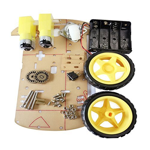 CJRSLRB Smart Motor Robot Car Chassis Kit with Speed Encoder Wheels and Battery Box for Arduino