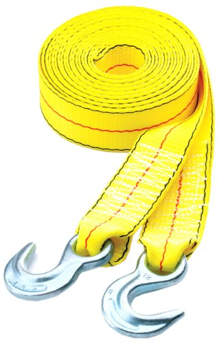 20 Yellow Tow Strap with Hooks Highland 1017600 1 piece BLK:10176