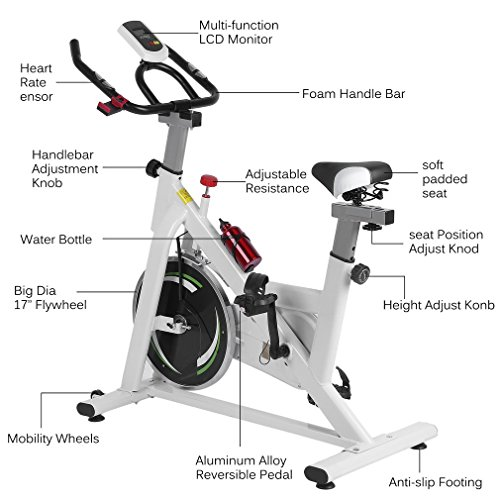 Homgrace Indoor Cycle Bike Trainer Exercise Cycle Indoor Bike For Workout Fitness