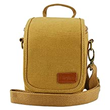 First2savvv BDV1701 yellow Adjustable Protective Case with shoulder strap bag for DSLR camera for Canon PowerShot SX420 . SX410 . EOS M10 . EOS M3. G1X Mark II . G3X