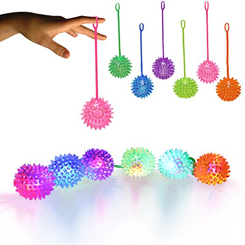 Windy City Novelties LED Jelly Spike YoYo Balls-12 Pack -