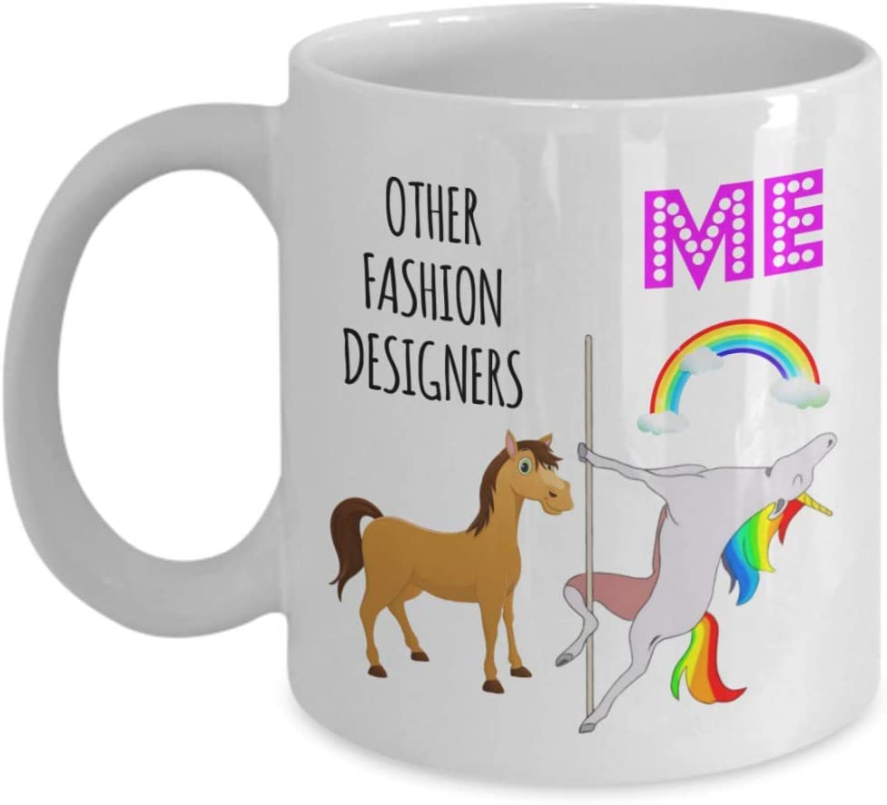 Amazon Com Funny Gift For Fashion Designer Christmas Birthday Ideas For Employee Appreciation New Favorite Staff Coworker Unicorn Pole Dancing Mug Cup Kitchen Dining