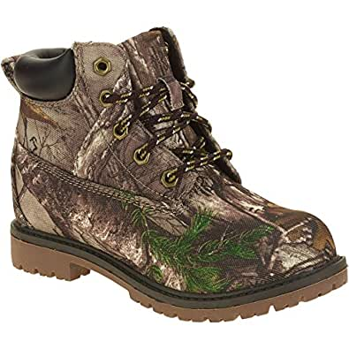 Amazon Com Realtree Xtra Camo Boys Tucker Lace Up Boots