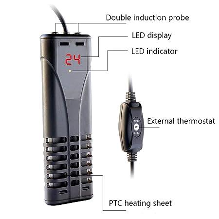 SMYH Calentador de Acuario,Control preciso de Temperatura,PTC ...