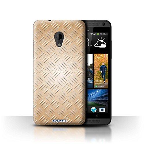Coque de Stuff4 / Coque pour HTC Desire 700 / Or Design / Motif en Métal en Relief Collection