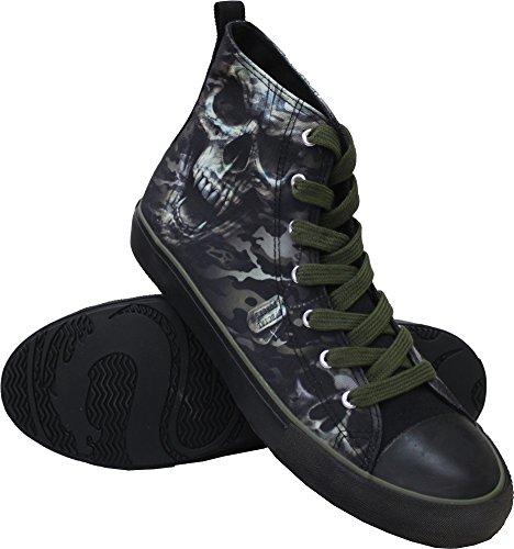 Spiral - Mens - CAMO-Skull - Sneakers - Mens High Top Laceup - M42-8