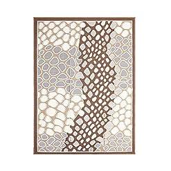 Garden and Outdoor SMM007 Reversible Indoor/Outdoor Plastic Rugs,Easy to Clean Outdoor Patio Rugs-(Brown,8×10) outdoor rugs