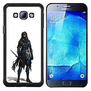 For Samsung Galaxy A8 A8000 - assassin character pc game white hero /Caja protectora de pl???¡¯????stico duro de la cubierta Dise???¡¯???¡Ào Slim Fit/ - S