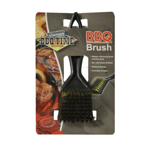 NEW BARBECUE BBQ GRILL METAL WIRE CLEANING BRUSH AND SCRAPER REMOVER TOOL Kingfisher