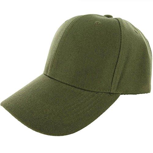 Olive Green-100% Acrylic Plain Baseball Cap Baseball Golf Fishing Cap Hat Men Women Adjustable Velcro (US - Gap Belted Belt