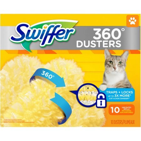 Swiffer 360 Degree Dusters Unscented Refills, 10 Dusters