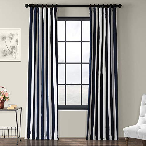 Half Price Drapes PRTW-D16-96 Printed Cotton Curtain, Cabana ()