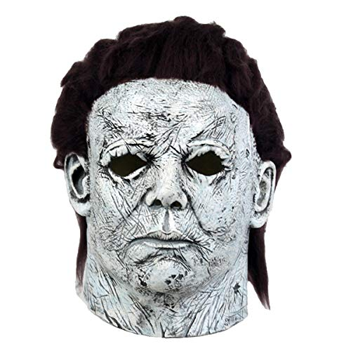 Movie Halloween Horror Michael Myers Mask Cosplay Adult Latex Full Face Helmet Halloween Party Scary Props ()