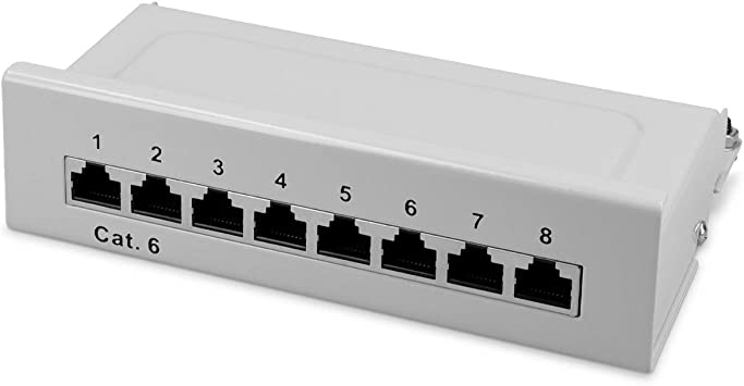 Kwmobile 8 Port Patch Panel Cat6 Splitter Panel Patch Computers Accessories