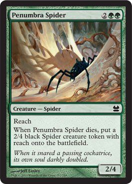 Magic: the Gathering - Penumbra Spider - Modern Masters (Penumbra Spider)