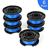 SUERW Line String Trimmer Replacement Spool, [6-Pack] 0.065' Autofeed Replacement Spools for Ryobi 18V, 24V, and 40V Cordless Trimmers [6 Replacement Line Spools]