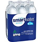 Purified Water Glaceau Smartwater Vapor Distilled Water, 33.8 Ounce (Pack of 6)