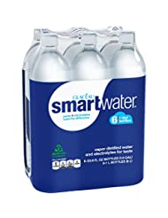 Glaceau Smartwater Vapor Distilled Water, 33.8 Ounce (Pack of...