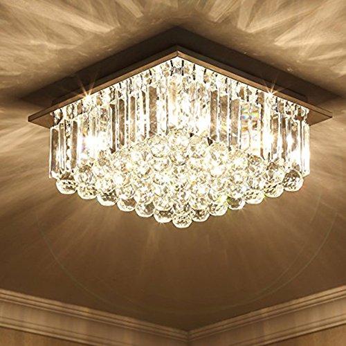 Luces de techo Moderna cristalina del Techo K9, iluminación ...