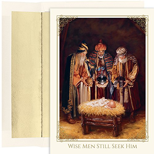 (Masterpiece Studios Boxed Cards, 18-Count, Wisemen and Baby Jesus (853000))