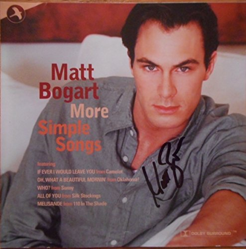 Signed CD from Matt Bogart titled More Simple Songs Autographed Five Songs on this CD (Cd Insert Matt)