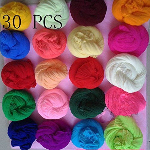 Tensile stocking is 2.5m(30pcs/Lot) Multicolor flower Nylon stocking material accessory handmade DIY nylon flower stocking