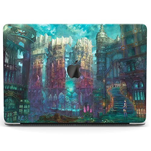 Wonder Wild Case For MacBook Air 13 inch Pro 15 2019 2018 Retina 12 11 Apple Hard Mac Protective Cover Touch Bar 2017 2016 2015 Plastic Laptop Print Fairy City Blue Anime Fantasy Castle Cartoon Gothic]()