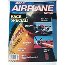 Model Airplane News Magazine September 1990 Race Special! Reno Air Races, Formula 1 Midgets, Build a $5 Wing Jig, EZ Dago Red, Mini Reno Warbirds