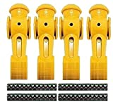 Tornado 4 Yellow Foosball Men Counter Balanced Pin