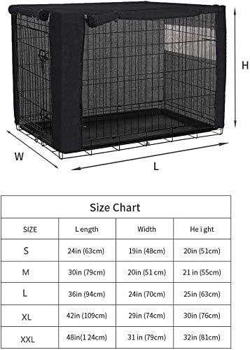 Chengsan Housse en polyester pour cage de chien en fil de fer, durable et coupe-vent