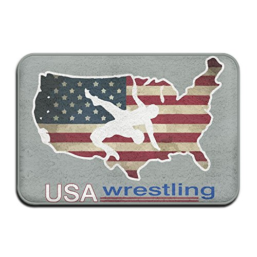 Youbah-01 Anti-skidding USA Wrestling Bathroom Mats Slide-proof Rug