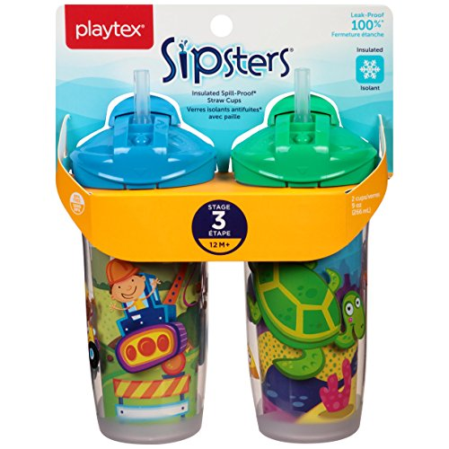 Playtex Playtime Insulator Straw Cup, 9 oz, 2 ct by Playtex (Image #1)