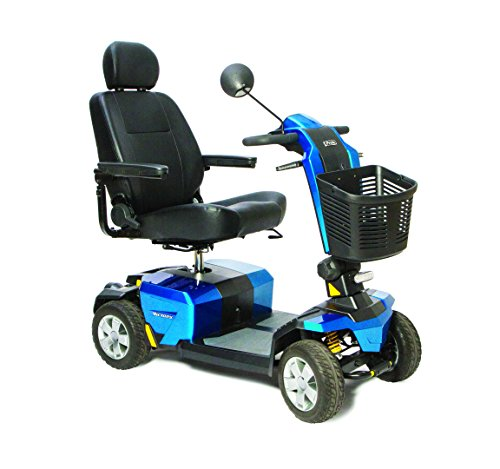 Pride Mobility - Victory 10 LX with CTS Suspension - Full-Sized Scooter - 4-Wheel - True Blue
