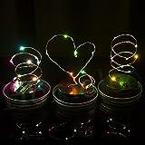 Fancyku Lights String Solar Mason Jar Cap String Lights for Indoor and Outdoor 20 Bulbs Multi-color - 2 Meters