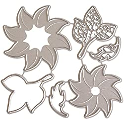 FORUU Die Cut, Metal Cutting Dies Stencils Scrapbooking Embossing Mould Templates Handicrafts DIY Card Making Paper Cards Best Gift New Flower Heart Album
