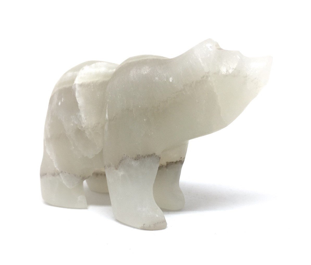 Aragonite Bear Gemstone Animal