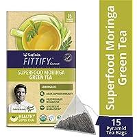 Saffola FITTIFY Gourmet Superfood Moringa Green Tea - 37.5 g (Lemongrass, 15 Sachets)