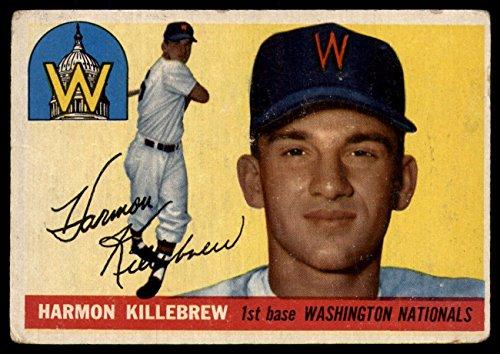 1955 Topps #124 Harmon Killebrew Very Good RC Rookie Senators