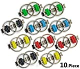Fidget Toy Flippy Chain - Stress Relief Perfect for ADHD, ADD, Anxiety for School Class Kids or Offices Adults Finger Dexterity Exerciser by CsyncDirect (10 Packs)