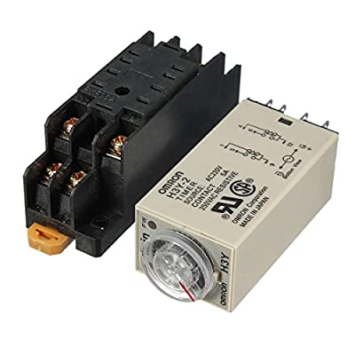 H3Y-2 220V Power On Time Delay Relay Solid-State Timer DPDT Socket.