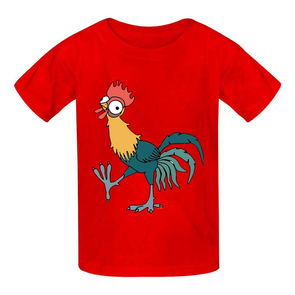 Della Graham Poultry Children and Adolescent 3D Printed Outdoor Short-Sleeved T-Shirt S Red
