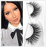 Miss Kiss 1 Pairs Premium Lashes, Reused 3D Lashes Full Strips, Upgrade Siberian Mink Eyelashes Cruelty Free, Handmade False Eyelashes Natural Style, Eye Lash in Luxury Box (3D01)