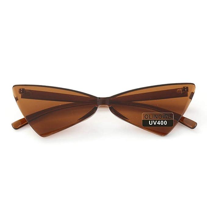 Amazon.com: OLINOWL - Gafas de sol triangulares sin montura ...